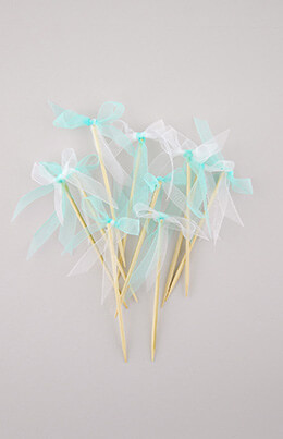 Party Picks Mint Ribbon (Pack of 10)
