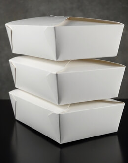 50 White Bakery Boxes  6x8