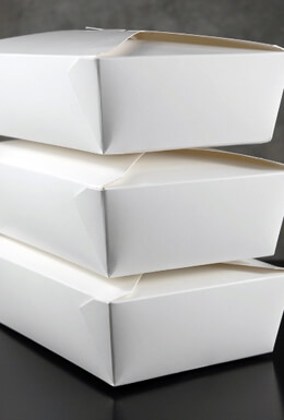 """50 White 56 oz. Take Out Boxes 7.75 x 5.5"""""""