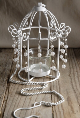 Pearl Birdcage Tealight Candleholders