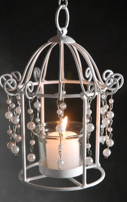 Pearl Birdcage Tealight Candleholders