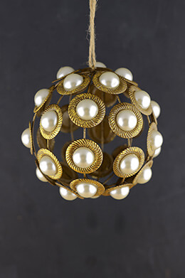 Pearl Christmas Ornament 5in