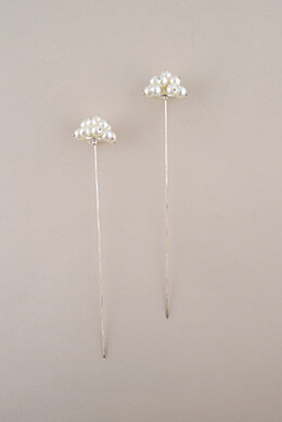 Pearl Flower Picks 6.75in (Set of 2)