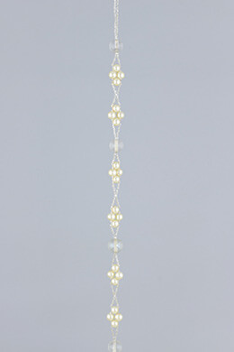 Pearl & Clear Bead Garland 5ft