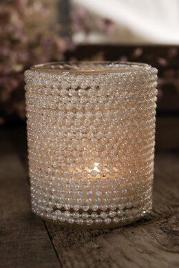 Acrylic Pearl Tealight Candleholder