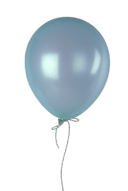 "100 Light Blue 12"" Balloons, Pearl Finish"