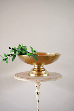 Pedestal Bowl Gold 16x7.5in