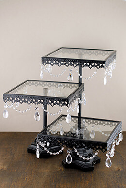 Pedestal Cake Stands Black (Set of 3)