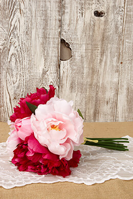 Peony Bouquet Pink Beauty 11.5in