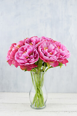 Peony Flower Pink 13in (Pack of 12)