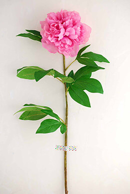 Peony Spray Pink 33in