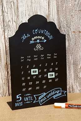 Perpetual Calendar Chalkboard 14in