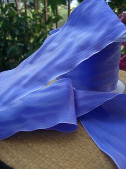 Periwinkle Blue Moire 3 Inch Wide Ribbon   27ft