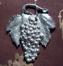 """Pewter Grapes 2-1/2"""""""