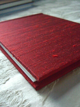 Photo Albums Red Dupioni Silk Rag & Bone Bindery