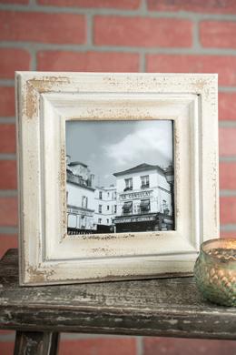 Rustic White Wood Photo Frame 5x5