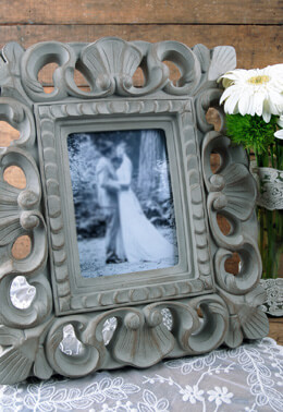 "Shabby Chic Picture Frame Gray 5"" x 7"""