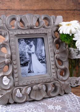 Shabby Chic Picture Frame Gray 5