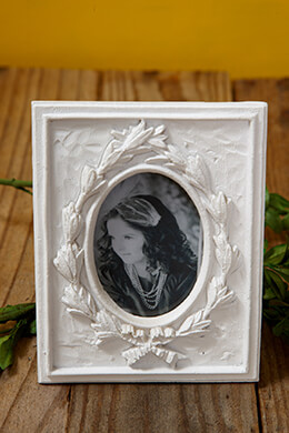 Picture Frame White 4.75x3.5in