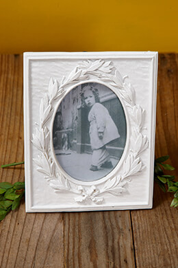 Picture Frame White 7.25x5.75in