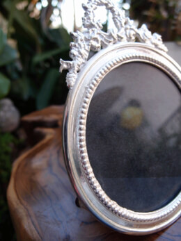 Picture Frame Silver Round 5in