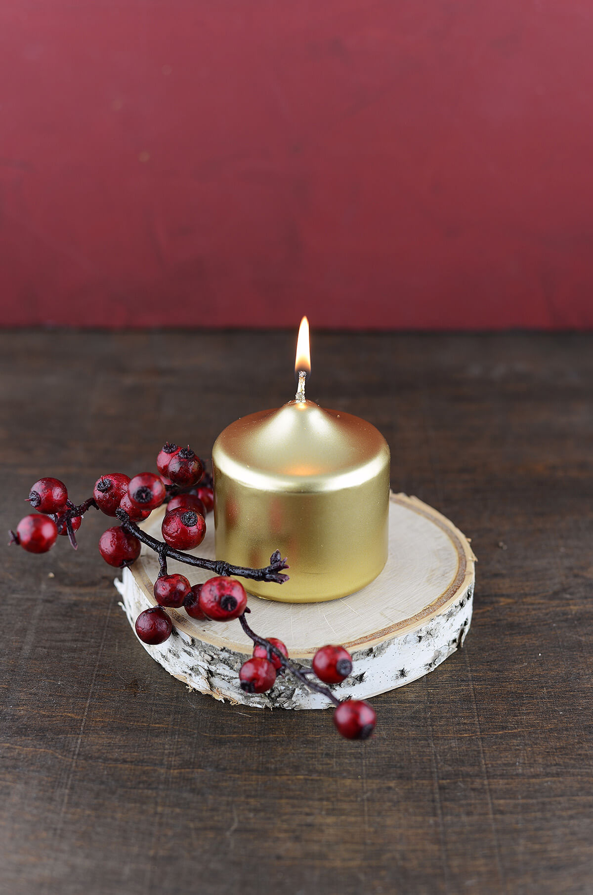 Large Gold Votive Candles 3in