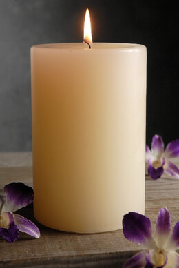 "Pillar Candle Ivory Unscented 4""x6"""