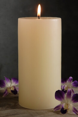 4x8 Pillar Candles Ivory Unscented