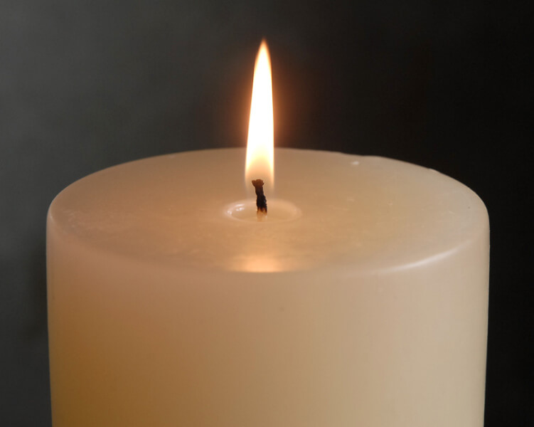 4x8 Pillar Candles Ivory Unscented