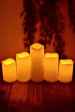 Pillar Candles (Set of 5)