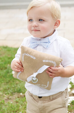 "Mud Pie ""With This Ring"" Ring Bearer Pillow"