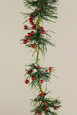 Pine Berry Garland 12ft