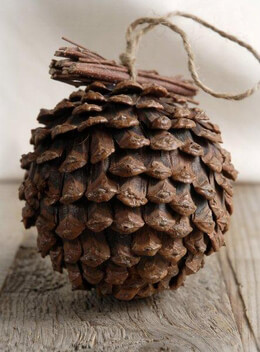 "Pine Cone Ball with Twigs (4.5"" wide)"