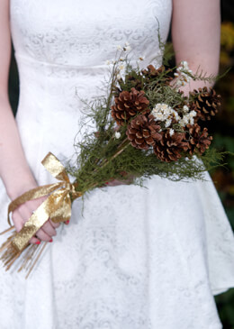 Natural Pine Cone Bouquet 18in