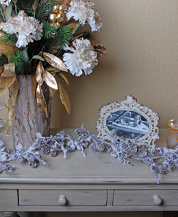 Pine Cone Garland with Snow 6ft