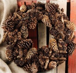 "Pine Cone Wreaths 25"""