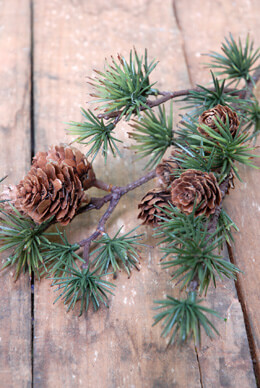 Pine Branch Spray with Cones 23in