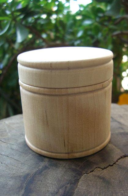 Pine Wood Round Box 2.5in