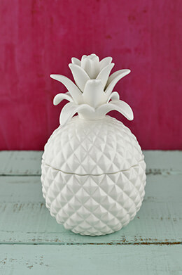 Exquisite Bala Lidded Pineapple Jar 7.5""