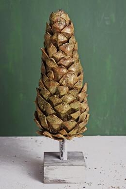"12"" Natural Pinecone Christmas Tree"