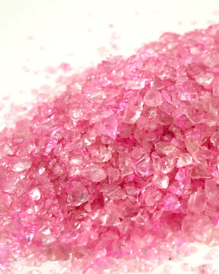 Crushed Glass 2-4mm, 46 oz. Pink Vase Fillers