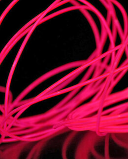 Pink El wire 6' 2.2mm Complete Kit Battery Operated