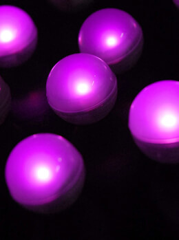 "Pink Fairy Berries Magical LED Light, 3/4"" Diameter (10 pieces )"