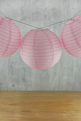 "8"" Paper Lanterns PINK  (PACK of 10)"