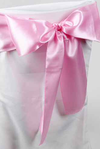10 Pink Satin Chair Sashes  6x106