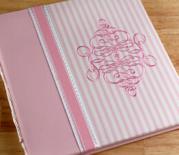 Pink & White Penelope: Baby's First Year Book