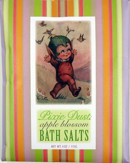 Pixie Dust Apple Blossom Bluebird Bath Salts 4 oz.