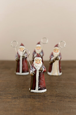 4 Santa Place Card Holders 5""