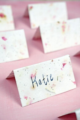 Handmade Blossom Seeded Place Cards 16pk