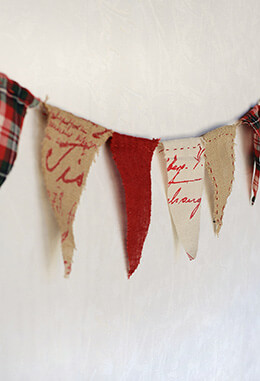 Plaid Burlap Banner 6ft